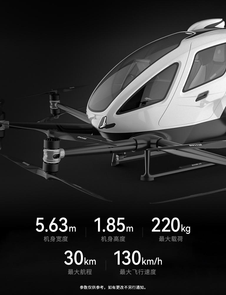 亿航智能自动驾驶飞行器参数