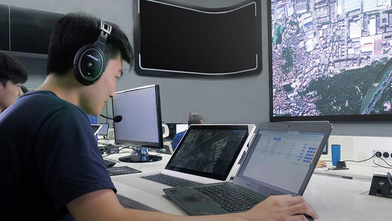 亿航无人机物流配送流程飞行监控