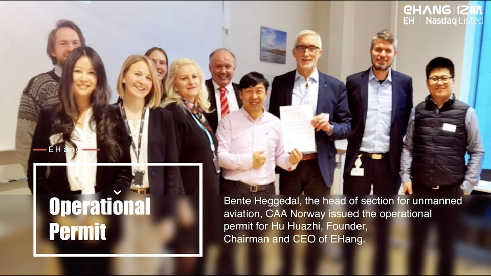 EHang 216 Obtained Operational Permit from Civil Aviation Authority of Norway